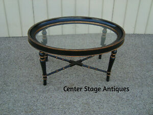 60277 Decorator Beveled Glass Top Coffee Table Stand