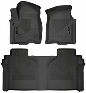 Husky Liners Front 2nd Row Rear Floor Mats For 2019 Silverado Sierra Crew Cab