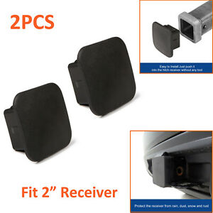 2pcs 2 Trailer Tow Hitch Receiver Cover Plug Dust Cap For Toyota Gmc Ford Lexus
