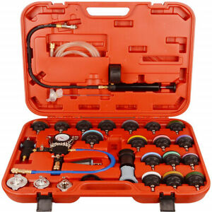 28pcs Universal Radiator Pressure Tester And Vacuum Type Cooling System Tool Kit