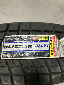 2 New 245 65 17 Bridgestone Blizzak Dm V1 Snow Tires