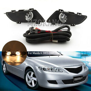 Fog Lights Lamp Wiring Kits For Mazda 6 2003 2004 2005 Front Bumper Driving 1set