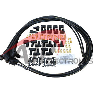 Dragon Fire 8 5mm 90 Universal Spark Plug Wire Set For V8 Hei Points Extra Long
