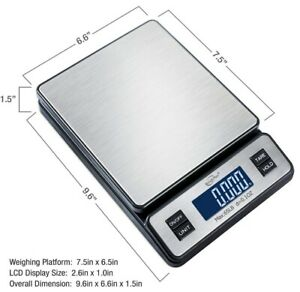 Weighmax W 2809 65 Lb X 0 1 Oz Digital Postal Shipping Scale Ac Adapter Included