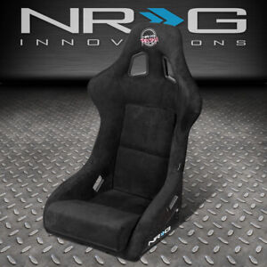 Nrg Innovations Frp 302bk Prisma 1pc Alcantara Bucket Racing Seat Large Size