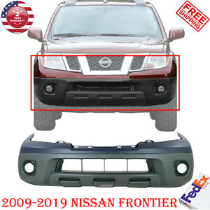 Front Bumper Cover Primed Textured Bottom Plastic For 09 2018 Nissan Frontier