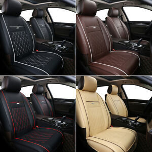 Luxury Car Seat Cover 100 Pu Leather 5 Seats Front rear Suv Cushions Universal