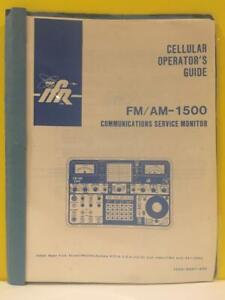 Ifr 1002 5001 300 Fm am 1500 Service Monitor Cellular Operator s Guide
