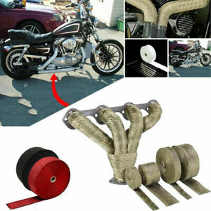 Heat Insulation Wrap Exhaust Header Pipe Tape Cloth For Car Motorcycle Trucks Us