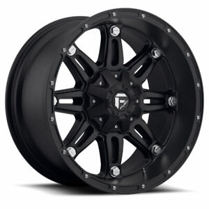 4 17x8 50 Fuel D531 Matte Black Hostage Wheels 6x135 6x139 7 For Toyota Jeep