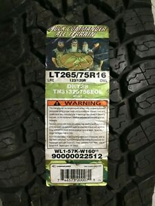 1 New Lt 265 75 16 Lre 10 Ply Duck Commander All Terrain Tire