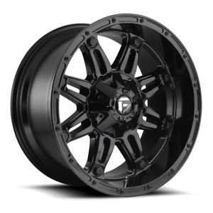 4 20x12 Fuel Gloss Black Hostage Wheels 6x135 6x139 7 For Ford Toyota Jeep