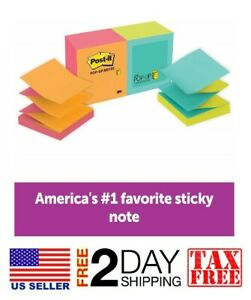 Post it Pop up Notes Green Blue Yellow Pink Orange Designed For Pop up Out