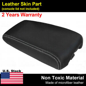 Leather Armrest Center Console Lid Cover For Nissan Maxima 09 14 Gray Stitch