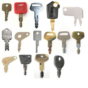 16 Keys For Heavy Equipment Construction Ignition Key Set