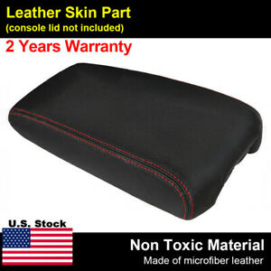 Leather Armrest Center Console Lid Cover Skin For Nissan Maxima 09 14 Red Stitch