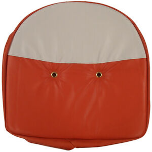 Orange And White Tractor Pan Seat Cover Universal Fits Ford Fits John Deere Fits