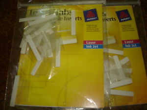 Avery Index Tabs With Printable Inserts 1 Lot Of 2