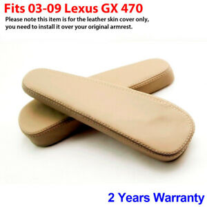 2pcs Leather Seat Armrest Replacement Cover For Lexus Gx 470 03 09 Ivory Beige