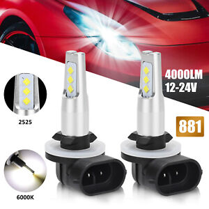 2x 4 inch 27w Round Led Work Light Bar Spot Fog Lamp Driving Offroad Suv Truck