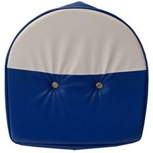 Blue White Tractor Pan Seat Cover Universal Ford Fits John Deere Massey Case