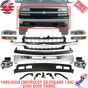 Front Bumper Kit For 1999 2002 Chevrolet Silverado 1500 Light Duty 00 06 Tahoe