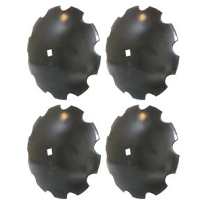 4 Pack Disc Harrow Blade 20 Notched Fits 1 1 8 Square Axle Fits Many Brands