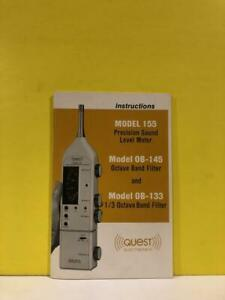 Quest Model 155 Sound Level Meter Model Ob 145 Ob 133 Octave Band Filter Manual