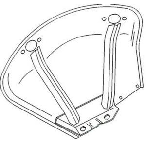 At20777 Fender Right Hand Fits John Deere 830 1020 1530 2020 2030