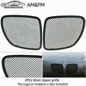 For 2006 2009 Pontiac Solstice Stainless Steel Black Mesh Grille Insert 2pcs