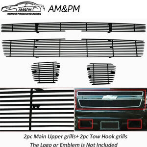 2007 2014 Chevy Avalanche Tahoe Suburban Upper bumper Billet Grille Black Combo