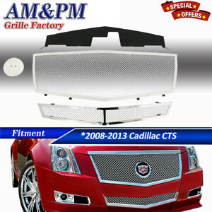 For 2008 2013 Cadillac Cts Stainless Steel Mesh Grille Grill Insert Combo