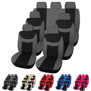 Universal Car Truck Suv Van Seat Covers Front Rear Head Rests Seat Protectors