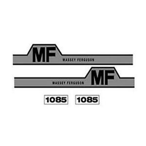 M614h Fits Massey Ferguson Tractor 1085 Hood Decal Set With Mf Hump Decals