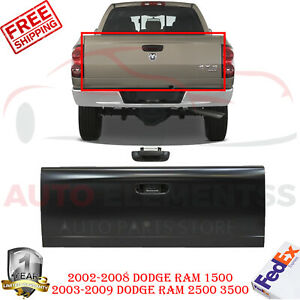 Rear Tail Gate Steel With Handle For 2002 2008 Ram 1500 2003 2009 Ram 2500 3500