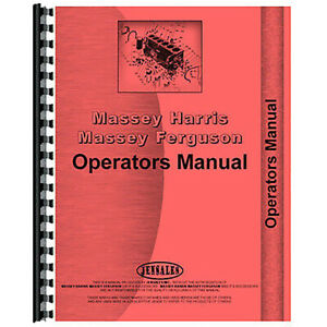 New Fits Massey Ferguson 550 Combine Operator s Manual