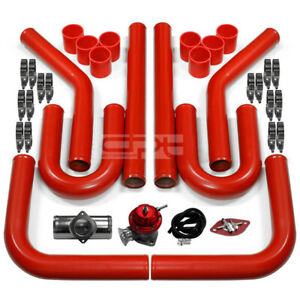 2 5 red Intercooler Piping type Rs Turbo Blow Off Valve Bov aluminum Flange Pipe