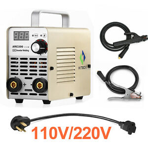 Hitbox Arc Welder 200a 110 220v Dual Volt Inverter Arc Stick Welding Machine