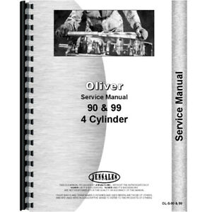 Oliver 99 Tractor Service Manual