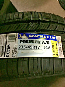 2 New 235 45 17 Michelin Premier A s Tires