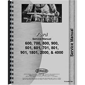 Service Manual For Fo s 600 700 Fits Ford 850 Tractor