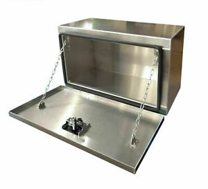 Underbody Aluminum Tool Box W Smooth Door 36x18x18 Buyers 1706405