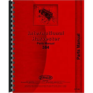 New Parts Manual For International Harvester 384 Tractor