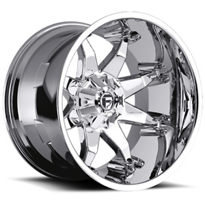 4 20x9 Fuel D508 Chrome Octane Wheels 6x135 6x139 7 For Ford Jeep