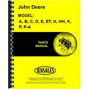 Jd p pcc63 Parts Manual For John Deere Manure Spreader H