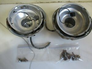 Vintage Pair Of Original 1942 1954 Dodge Plymouth Chrysler Headlight Buckets