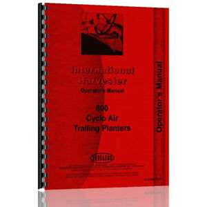 New International Harvester Cyclo Planter Operator Manual