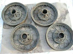 1930 31 Ford Model A Set Of 4 19 Wire Spoked Wheels Rims Good Used