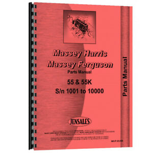 New Parts Manual For Massey Harris 55k Tractor