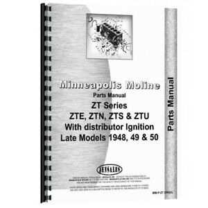 New Parts Manual For Minneapolis Moline Zte Tractor